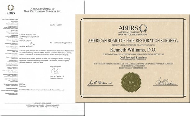 2015 Board Examiner at the 2015 Chicago Examination of the American Board of Hair Restoration