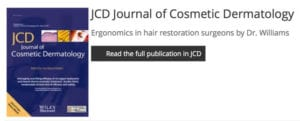 jcd journal on ergonomic in hair restoration by dr. williams